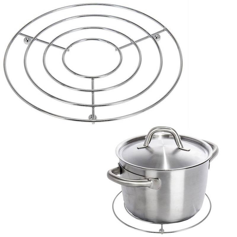 Podkładka, podstawka kuchenna, stalowa, pod gorący garnek, naczynia, 20 cm