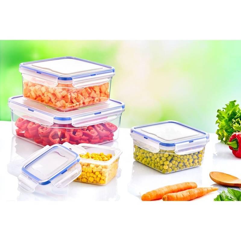 Pojemnik kuchenny na SER WĘDLINY do żywności z uszczelką kratką 4,3L szczelny