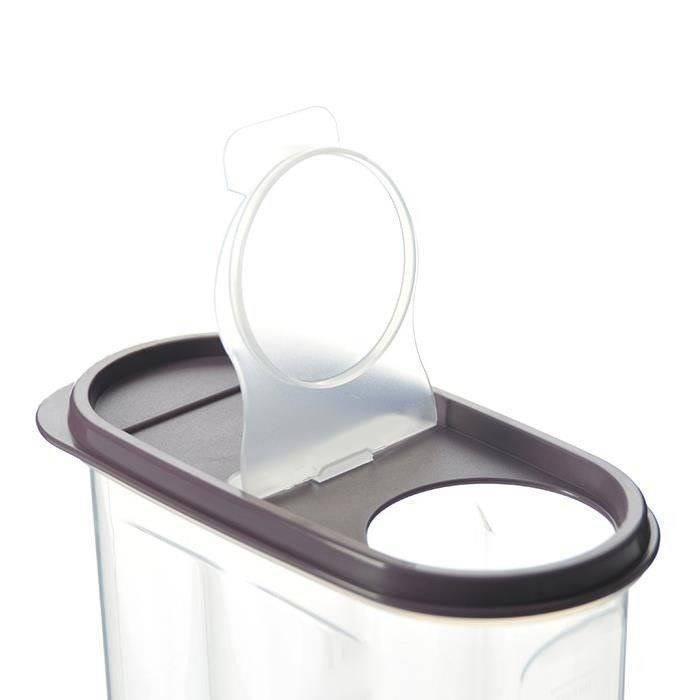 Pojemnik kuchenny na żywność płatki kasze makaron mąkę cukier produkty sypkie z dozownikiem i miarką 1,2L