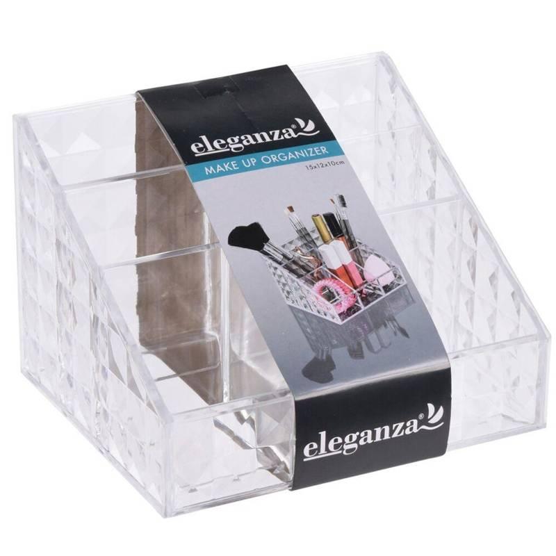 Pojemnik na kosmetyki, akcesoria do makijażu, organizer akrylowy, make-up,15x12x10 cm