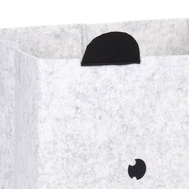 Pojemnik składany, filcowy, kosz, pudełko, worek na zabawki, pies