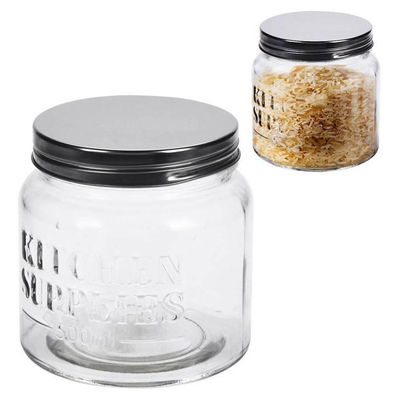 Pojemnik szklany kuchenny, słój, słoik, 0,5 l, na makaron, płatki, kawę, słodycze, produkty sypkie