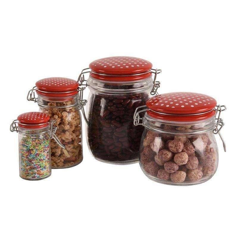 Pojemnik szklany słoik kuchenny RETRO KROPKI 0,25L