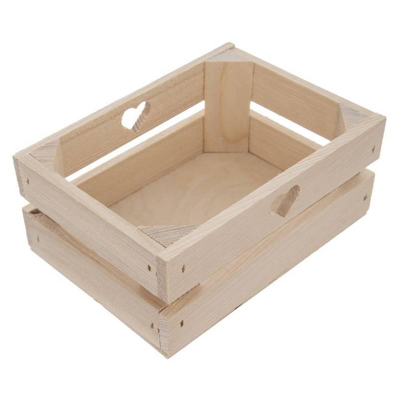 Skrzynka drewniana, skrzynia, pojemnik, 20x15x18,5 cm, do przechowywania, koszyk na warzywa, owoce