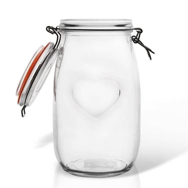Słoik / pojemnik szklany patentowy BELA 1,5L SERCE