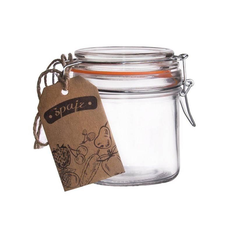 Słoik pojemnik szklany patentowy z klipsem BELA 0,28L