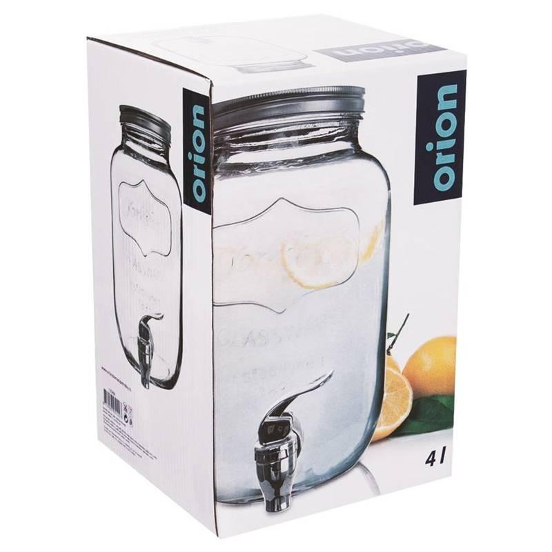 Słój słoik dystrybutor szklany z kranikiem kranem do napojów lemoniady 4 l + stojak ze stojakiem