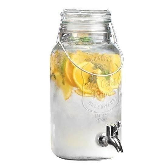 Słój / słoik z kranikiem do napojów 4L