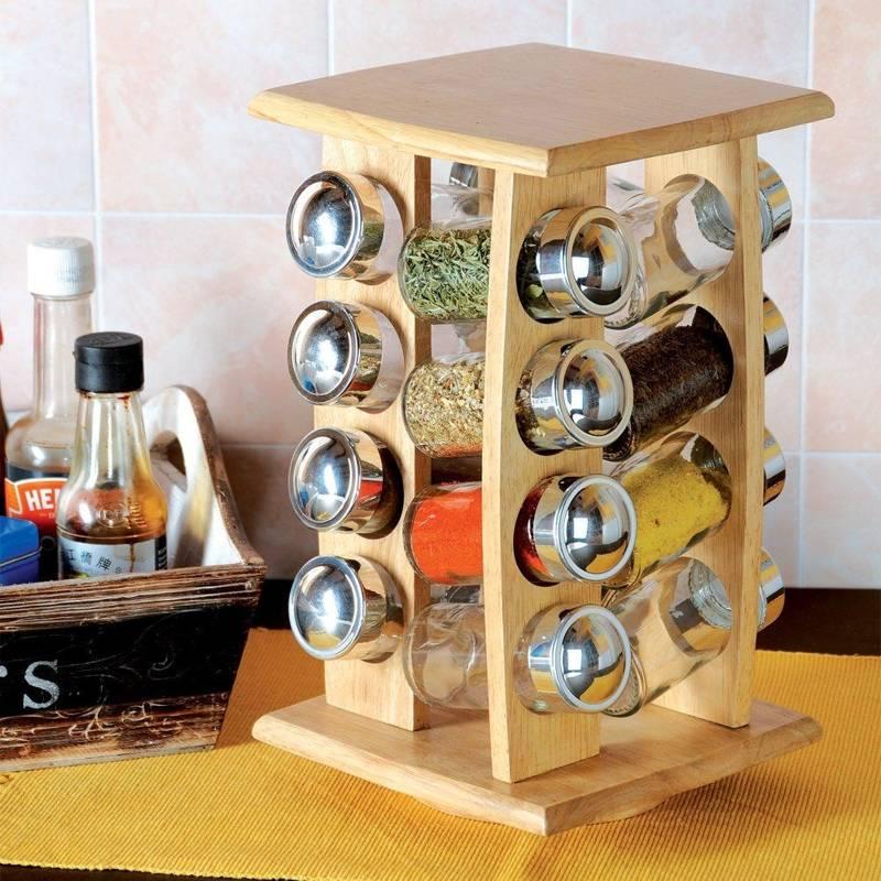 Stojak na przyprawy półka przyprawnik pojemniki 16