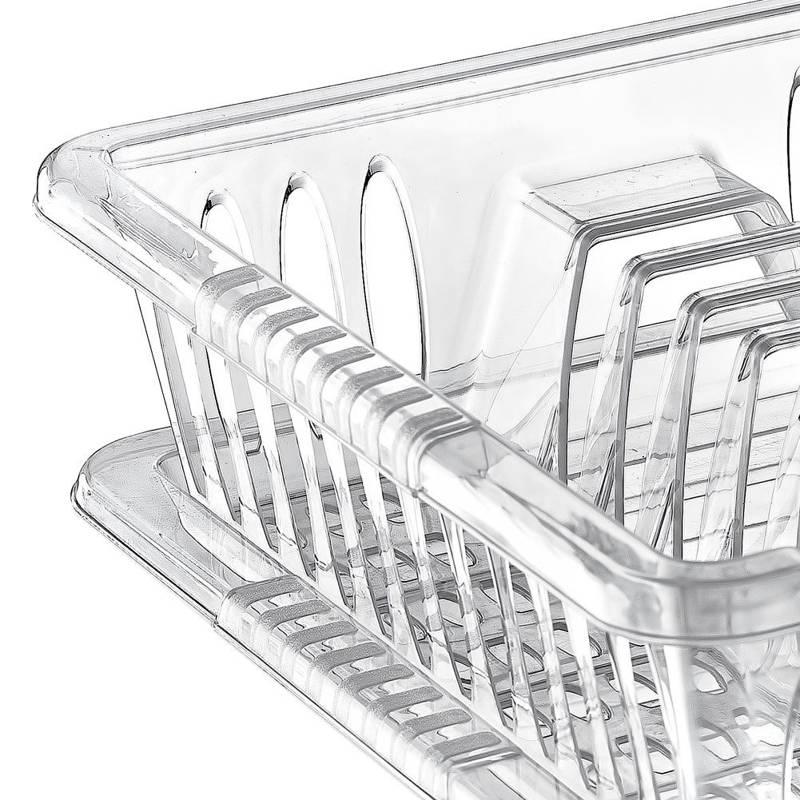 Suszarka na naczynia talerze kubki sztućce ociekacz dosuszenia naczyń z tacą