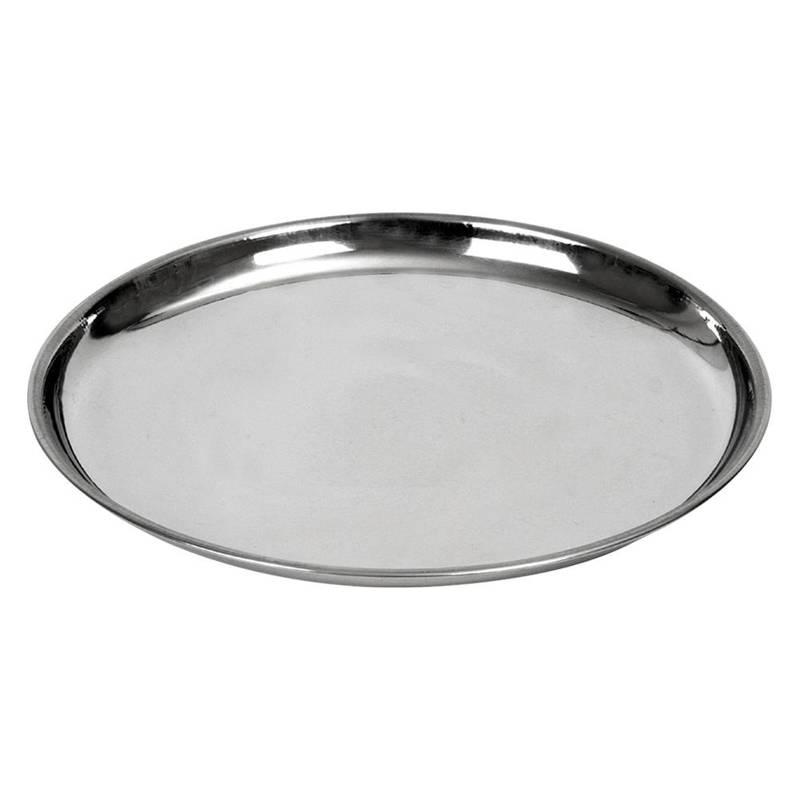 Taca do serwowania stalowa okrągła talerz 23 cm