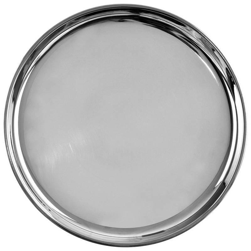 Taca do serwowania stalowa okrągła talerz 28 cm