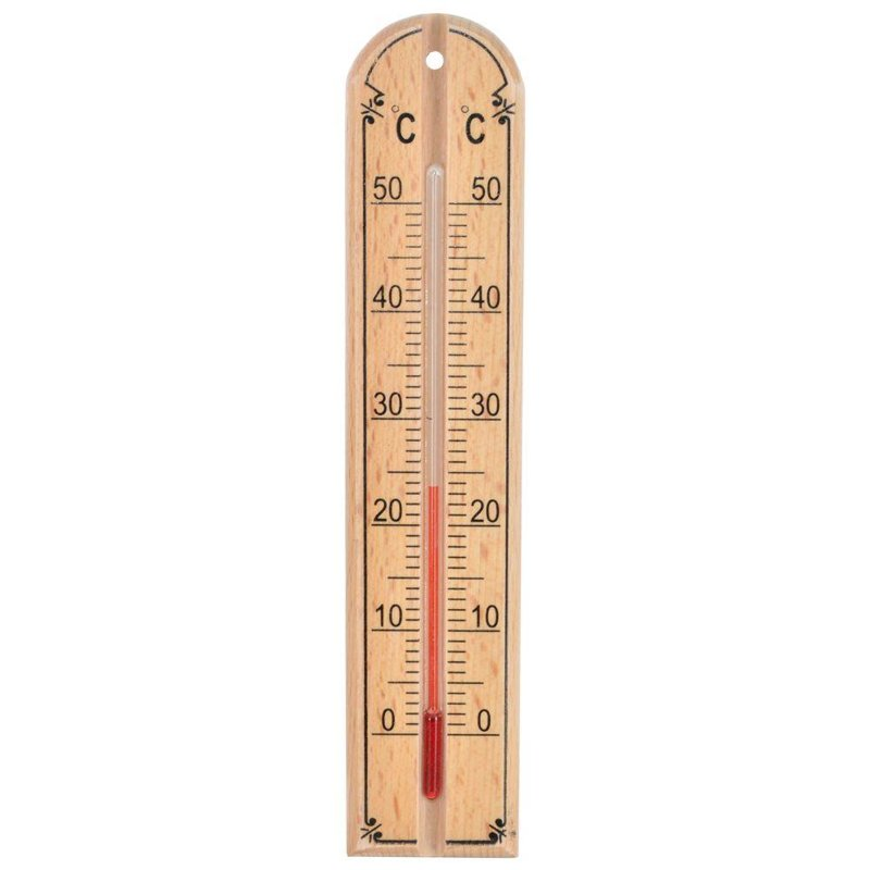 Termometr DREWNIANY pokojowy wewnętrzny zawieszany