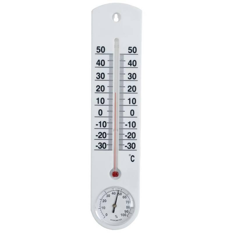 Termometr + higrometr wewnętrzny / zewnętrzny