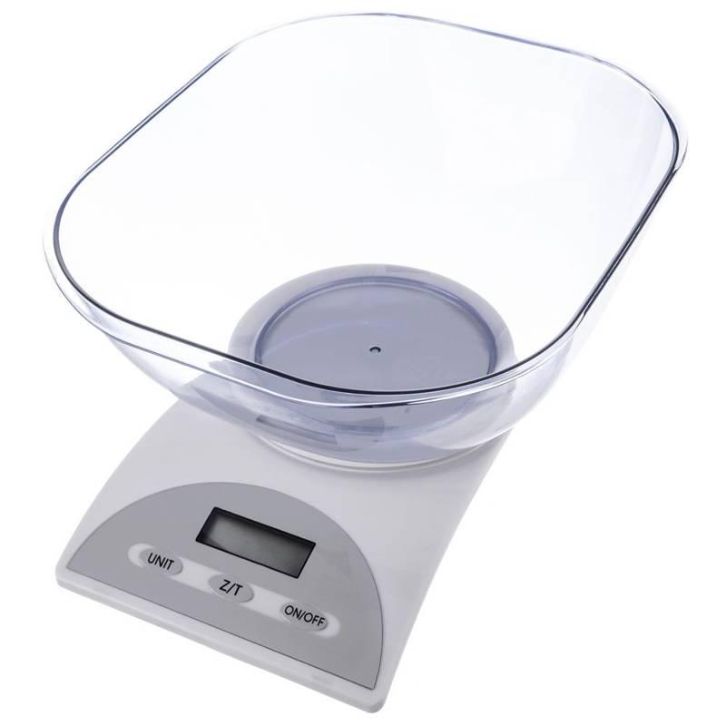 Waga kuchenna elektroniczna, 5kg, z miską, 3 l