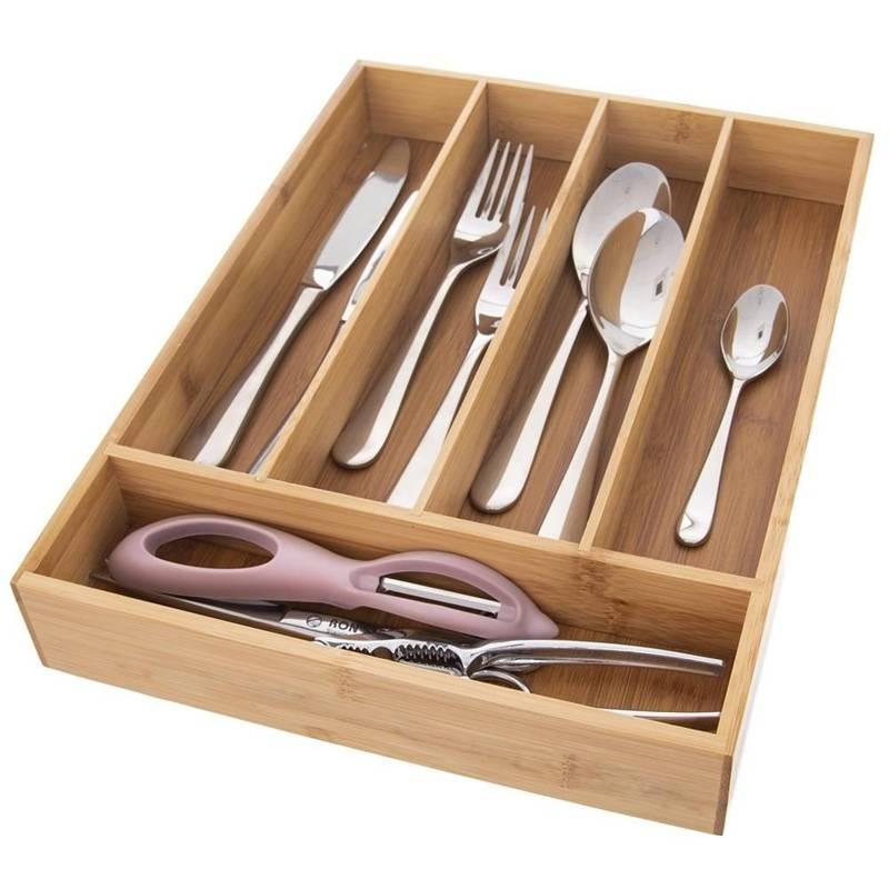 Wkład / organizer do szuflady na sztućce BAMBUSOWY