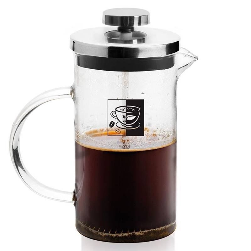 Zaparzacz imbryk DZBANEK szklany z tłokiem do kawy herbaty ziół 0,6L