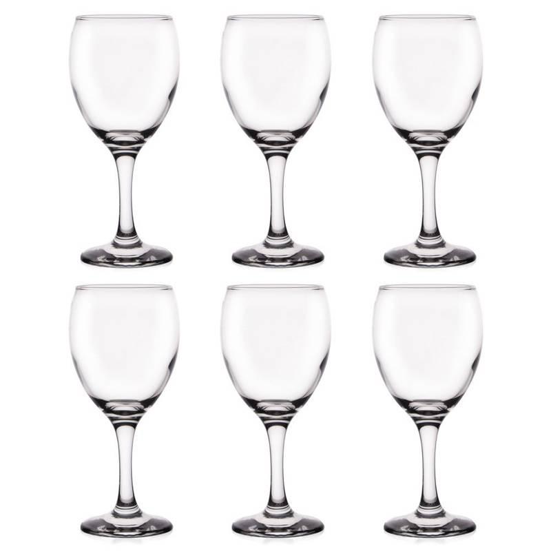 Zestaw kieliszków KIELISZKI kieliszek do wina 245ml 6 sztuk