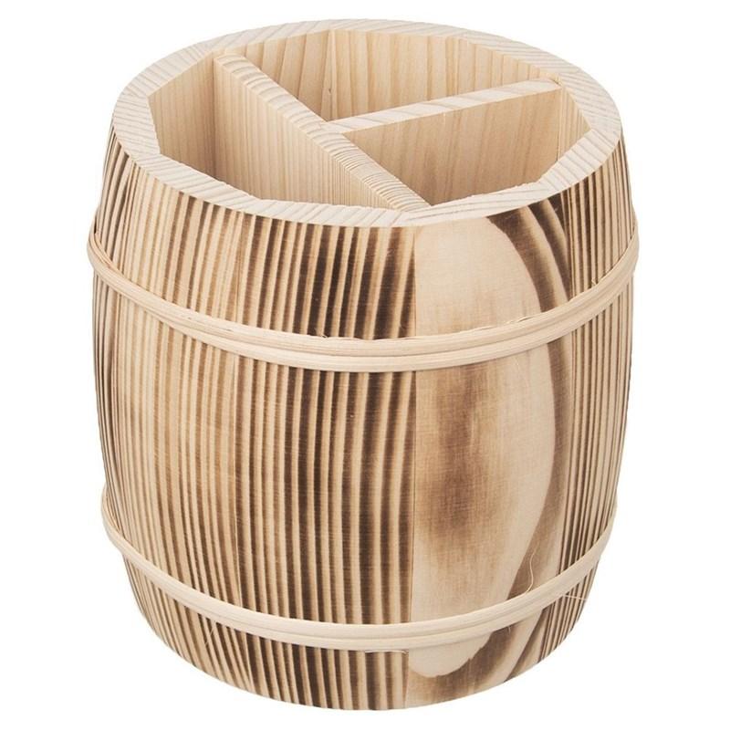 Coș, suport, coș pentru ustensile de bucătărie, tacâmuri, suport pentru șervețele, organizator din lemn