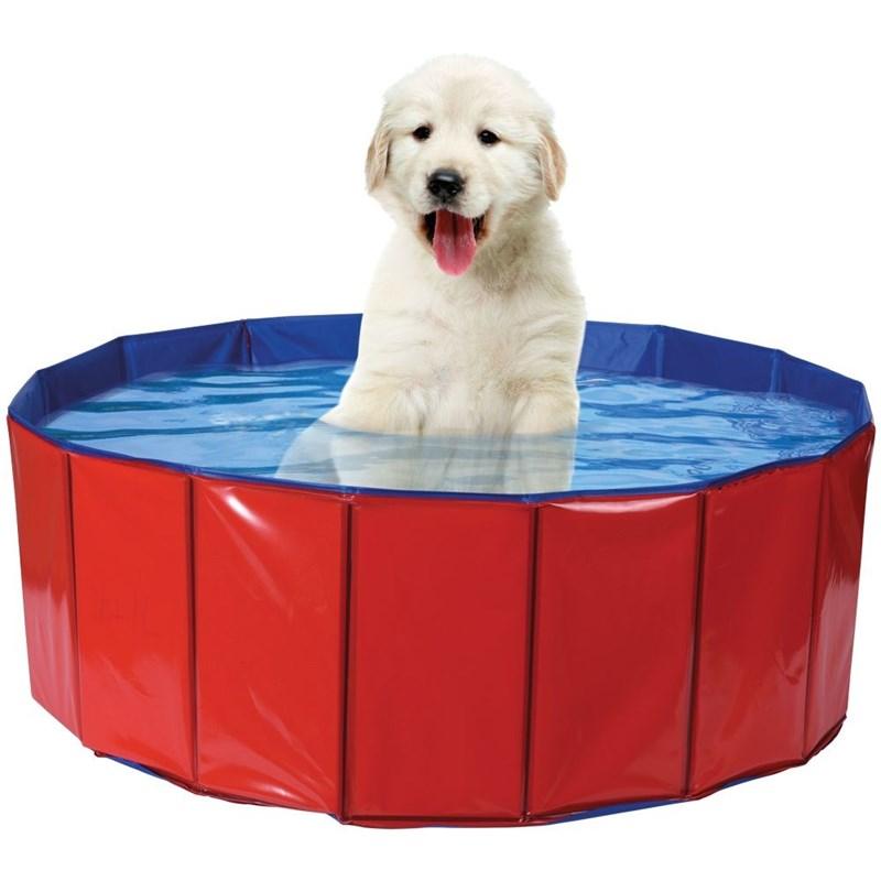 Piscină pentru câini, animale, întărită, pliabilă, cadă