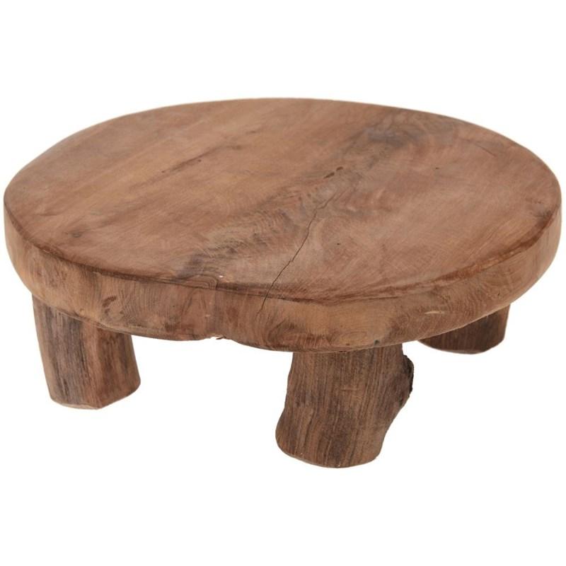 Scândură rotundă din lemn, tavă cu picioare, pentru servire, bază 20 cm