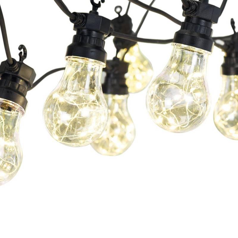 Lumini de grădină, ghirlandă, 10 becuri, 100x LED, exterior, interior, interior, 7,5 m