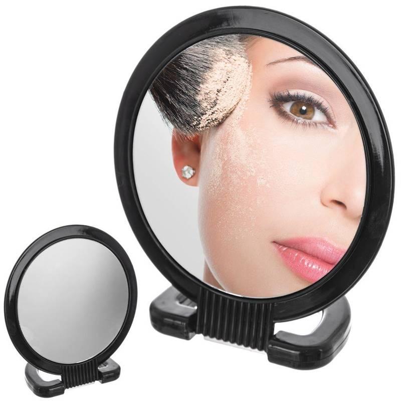 Oglindă, oglindă cosmetică, machiaj, duo, suport, ⌀15 cm