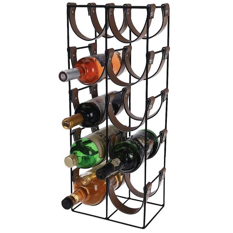 Suport metalic, negru, vin, raft, dulap, raft pentru sticle de vin, 10 sticle